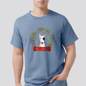 Bull Terrier Christmas W Mens Comfort Colors Shirt