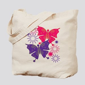 Butterfly Starburst Tote Bag