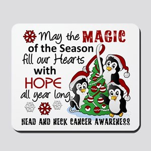 Holiday Penguins Head and Neck Cancer Mousepad