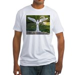 Cemetery Angel Fitted T-Shirt