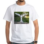 Cemetery Angel White T-Shirt