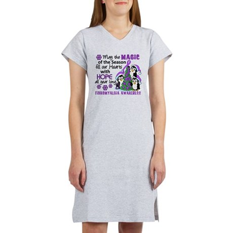 Holiday Penguins Fibromyalgia Women's Nightshirt