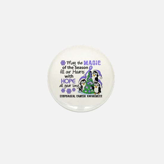 Holiday Penguins Esophageal Cancer Mini Button