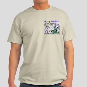 Holiday Penguins Esophageal Cancer Light T-Shirt