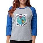 STOP WORLDGlobe3 Womens Baseball Tee