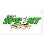 Jamaica Sprint Factory Rectangle Sticker