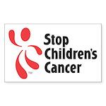 Stop Children's Cancer Logo Sticker (Rectangle)