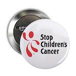 """Stop Children's Cancer Logo 2.25"""" Button"""