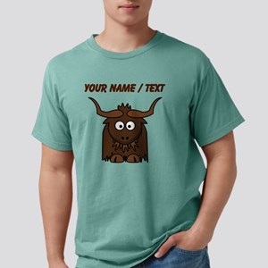 Custom Cartoon Yak Mens Comfort Colors Shirt