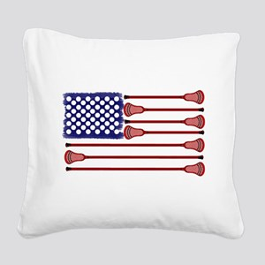 Lacrosse AmericasGame Square Canvas Pillow