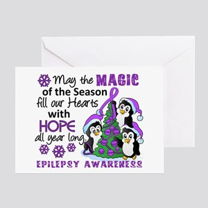 Holiday Penguins Epilepsy Greeting Card
