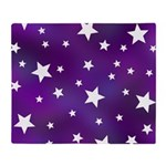 Purple and White Star Pattern Throw Blanket