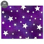 Purple and White Star Pattern Puzzle