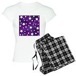 Purple and White Star Pattern Women's Light Pajama