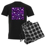 Purple and White Star Pattern Men's Dark Pajamas