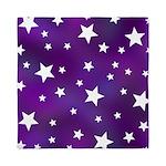 Purple and White Star Pattern Queen Duvet