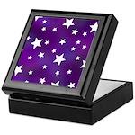 Purple and White Star Pattern Keepsake Box