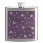 Purple and White Star Pattern Flask