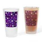 Purple and White Star Pattern Drinking Glass
