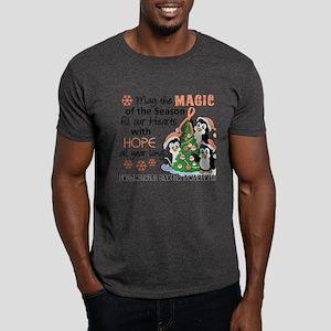 Holiday Penguins Endometrial Cancer Dark T-Shirt