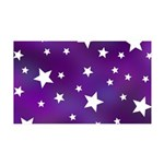 Purple and White Star Pattern 35x21 Wall Decal