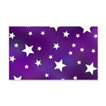 Purple and White Star Pattern 20x12 Wall Decal