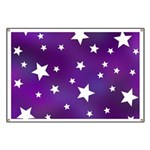 Purple and White Star Pattern Banner