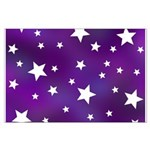 Purple and White Star Pattern Large Poster