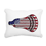 Lacrosse FlagHead Rectangular Canvas Pillow