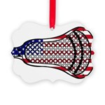 Lacrosse FlagHead Picture Ornament