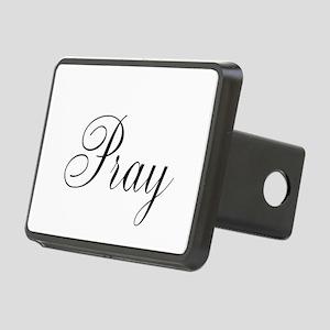 Pray Black script Rectangular Hitch Cover