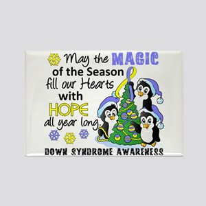 Holiday Penguins Down Syndrome Rectangle Magnet