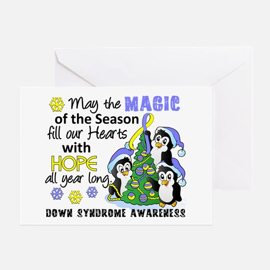 Holiday Penguins Down Syndrome Greeting Card