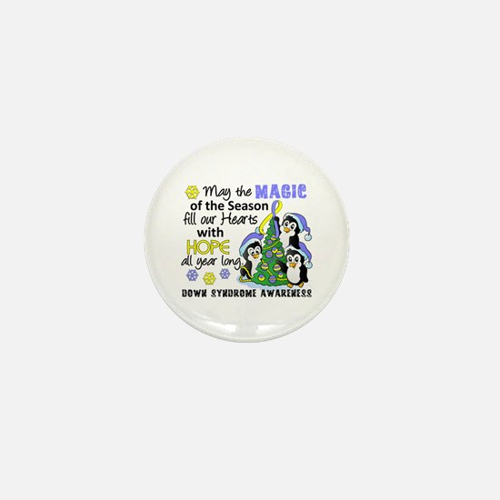 Holiday Penguins Down Syndrome Mini Button (10 pac