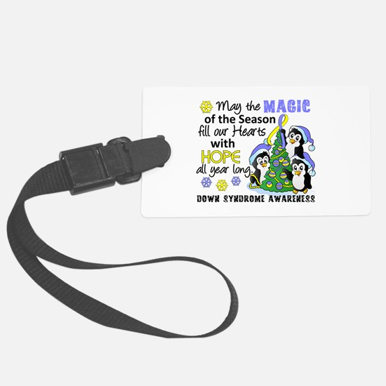 Holiday Penguins Down Syndrome Luggage Tag