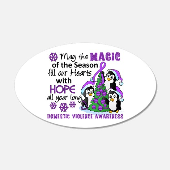 Holiday Penguins Domestic Violence Wall Decal