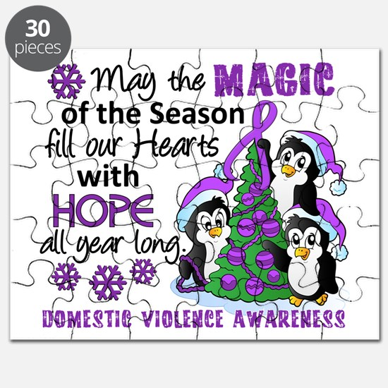 Holiday Penguins Domestic Violence Puzzle