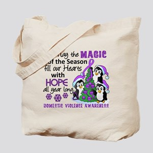 Holiday Penguins Domestic Violence Tote Bag