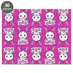 Kawaii Pink Bunny Pattern Puzzle