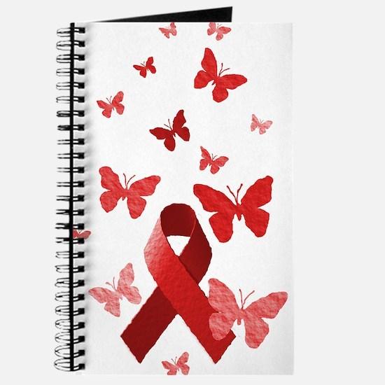 Red Awareness Ribbon Journal