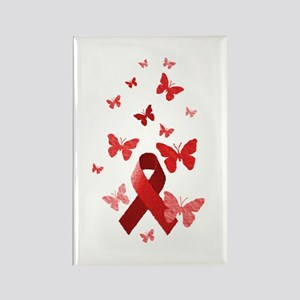 Red Awareness Ribbon Rectangle Magnet