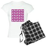 Kawaii Pink Bunny Pattern Women's Light Pajamas