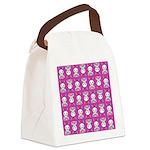 Kawaii Pink Bunny Pattern Canvas Lunch Bag