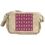 Kawaii Pink Bunny Pattern Messenger Bag