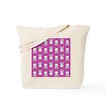 Kawaii Pink Bunny Pattern Tote Bag