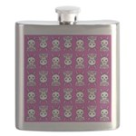 Kawaii Pink Bunny Pattern Flask