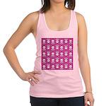 Kawaii Pink Bunny Pattern Racerback Tank Top
