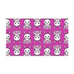 Kawaii Pink Bunny Pattern 35x21 Wall Decal