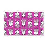 Kawaii Pink Bunny Pattern 20x12 Wall Decal