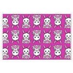 Kawaii Pink Bunny Pattern Large Poster